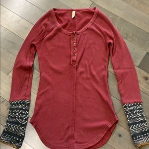 Free People Alpine Cuff thermal, Red